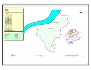 NA 119 Lahore 2 map
