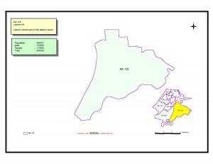NA 125 Lahore map