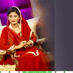 Ayesha Khalid ptv, Ayesha Khalid red dress