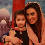 Madiha Naqvi pic with cute girl