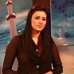 Madiha Naqvi in black salwar kameez