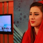 Madiha Naqvi in red dress