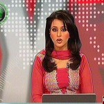 Mehreen Sibtain hot newscaster in red