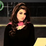 Nabeeha Ejaz in black dress