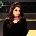 Nabeeha Ejaz in black dress
