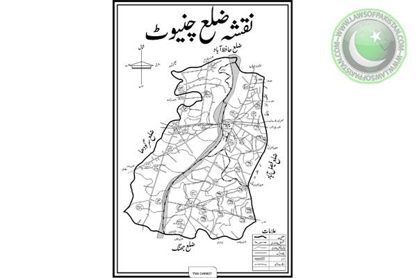 Chiniot Map