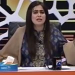 Ayesha Jahanzeb in blue dress