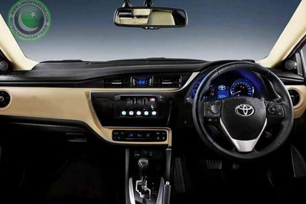 Toyota Corolla Facelift Pictures of Interior