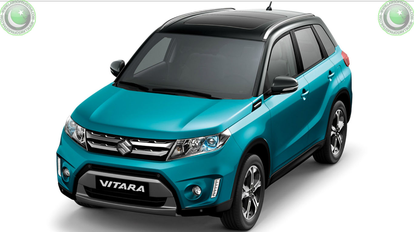 Suzuki Vitara Price In Pakistan