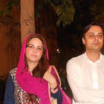 Zartaj Gul with husband